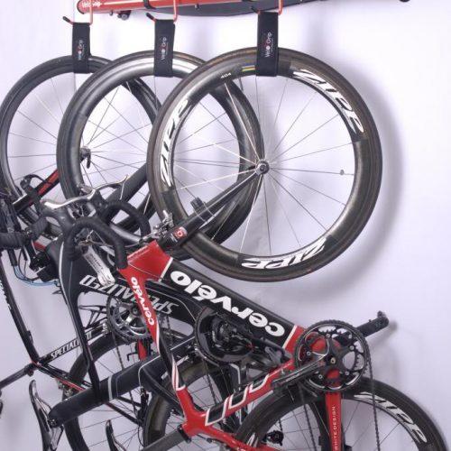 VeloGrip Loft vertical bike storage red