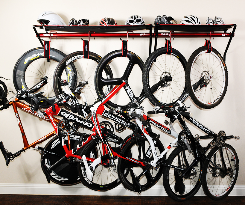 compact bike and gear storage saving space