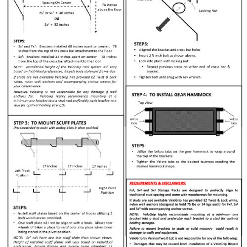VeloGrip SX FX installation instructions