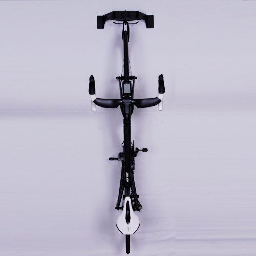 Max bike rack provides compact vertical storage