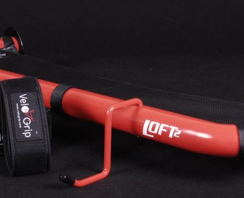 VeloGrip Loft vertical bike storage red