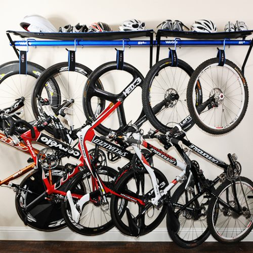 VeloGrip vertical home storage bike rack